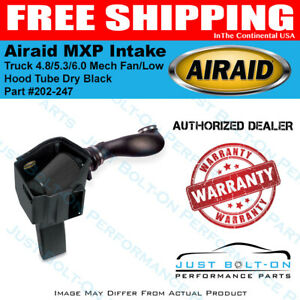 Airaid 99 06 Truck 4 8 5 3 6 0 Mech Fan low Hood Mxp Intake Tube Dry Black