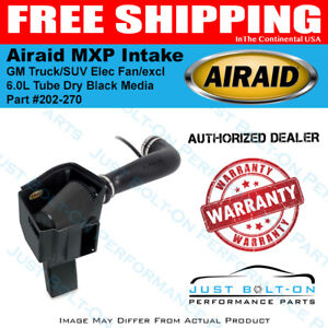 Airaid 09 13 Gm Truck suv Elec Fan excl 11 6 0l Mxp Intake Tube Dry Black Media