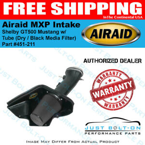 Airaid 07 09 Shelby Gt500 Mustang Mxp Intake W Tube Dry Black Media Filter