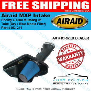 Airaid 07 09 Shelby Gt500 Mustang Mxp Intake W Tube Dry Blue Media Filter