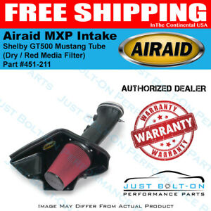 Airaid 07 09 Shelby Gt500 Mustang Mxp Intake Tube Dry Red Media Filter