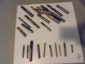 Lot Of 22 Solid Carbine End Mills 2 3 4 Flutes ball flat End mixed Sizes