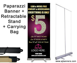 Paparazzi Banner With Retractable Stand