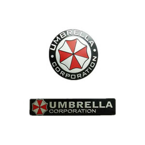 3d Metal Resident Evil Umbrella Corporation Car Badge Emblem Car Auto Sticker X2