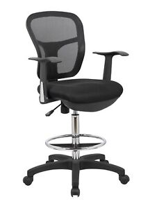 Office Factor Drafting Chair With Foot Ring Mesh Back Drafting Clerk Stool