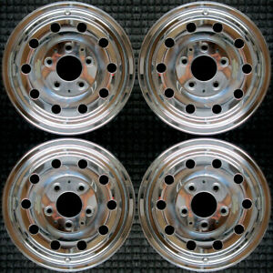 Set 1994 1995 1996 Ford Bronco F150 F 150 Oem Factory Polished Wheels Rims 3136