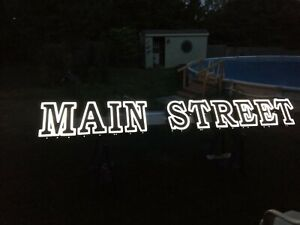 Used 16 White Led Channel Letter Sign main Street Good Working Condition