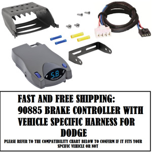 90885 Tekonsha Brake Control With Wiring Harness 3020 For 1995 2011 Dodge