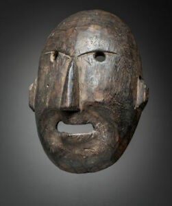 105 Early 20th Century Alaskan Native Inuit Mask Nice Patina Antique
