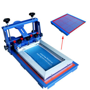 Desktop 1 Color Micro registration Screen Printing Machine Silk Press Printer