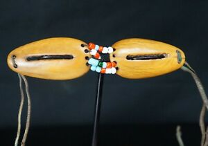 106 Rare From Late 19th To Early 20th Century Inuit Fossil Beaded Goggles