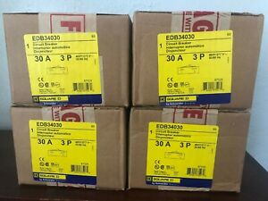 New Square D Edb34030 3p 480v 30a Bolt In Circuit Breaker New In Box 8 Availabl