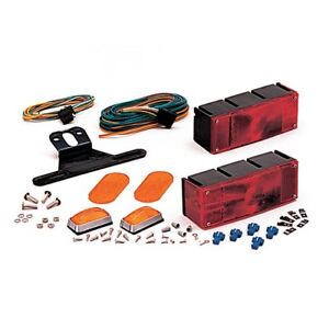 Waterproof Low Profile Trailer Light Kit With Amber Marker Lights