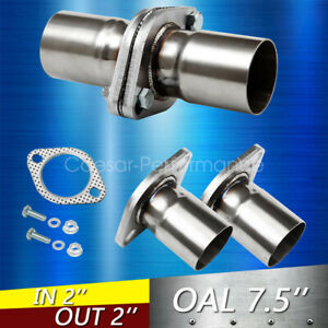 1pc 2 Id Universal Quickfix Exhaust Triangle Flange Repair Pipe Kit