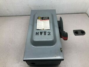 Used Square D 60 Amp 3 Phase 600 Vac Fusable Enclosed Safety Switch H362