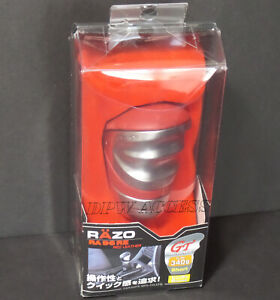 Red Razo Leather 340g Weighted Gt Silver Gear Shift Knob Manual Mt M8 M10 M12