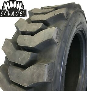 8 New Tires 10 16 5 Savage Heavy Skid Steer 12 Ply Deeptread 42 32 10x16 5 Fr