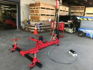 Portable Auto Body Puller Frame Straightener Free Clamps 10 000 Psi Foot Pump