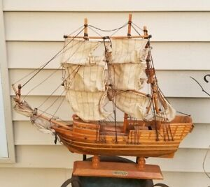 18 X 20 Wood Model Ship Revenge Cloth Sails Maritime
