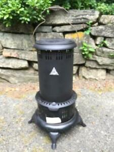 Vintage Working Black 525m Perfection Oil Kero Parlor Cabin Camping Heater Nice