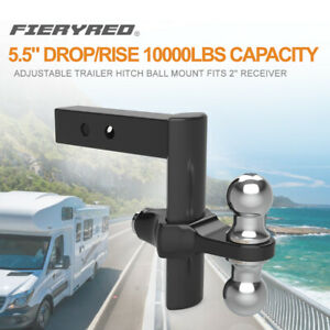 Fieryred Trailer Hitch Ball Mount 10000lbs Rapid Hitch Drop Rise Adjustable