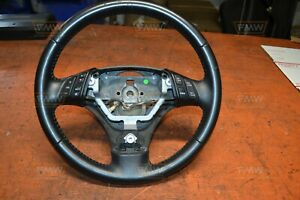 06 07 Mazdaspeed6 Ms6 Turbo Oem Factory Steering Wheel Black Leather