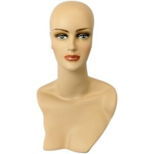 Mn 320 Female Display Mannequin Head Form With Stylish Neck And Shoulder