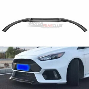 Carbon Fiber Front Bumper Lip Protector Cover 3pc For Ford Focus Rs St 2016 2018