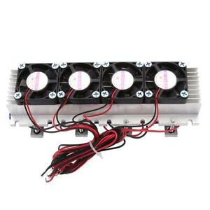 Tec1 12706 Diy Thermoelectric Cooler 4 chip Refrigeration Air Cooling Device 12v