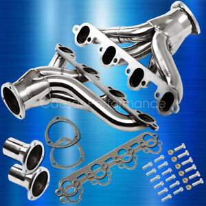 Hugger Stainless Steel Shorty Exhaust Header For Ford Big Block 429 460 Bbc Swap