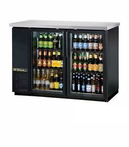 True Tbb 24 48g hc ld 49 In Back Bar Cooler W 2 Glass Swing Doors