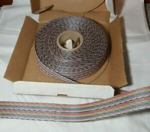 100 Ft Spectra strip 132 2801 040 Twist N Flat Ribbon Cable 40 Conductor 28 Awg