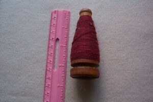 Small Industrial Wooden Christmas Tree Antique Textile Spindle Bobbin Spool