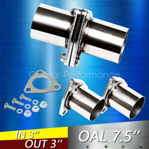 3 Od Universal Quickfix Exhaust Triangle Flange Repair Pipe Kit Stainless Steel