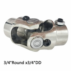 Steering Shaft U Joint Coupler New Universal Racing 3 4 Dd X 3 4 Round