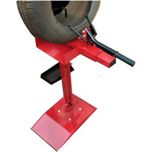 Red Vertical Manual Tire Patching Machine Tyre Expanding Equipment Flexible New