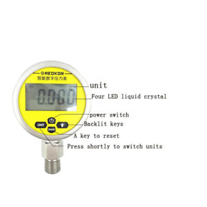 Stainless Steel Digital Pressure Guage Intelligent Vacuum Precision 0 1 6mpa