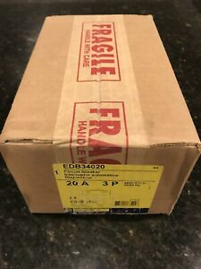 New Square D Edb34020 Circuit Breaker 20 Amp sealed In Original Box