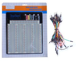 Tektrum Solderless 3220 Tie points Experiment Plug in Breadboard Kit With Wires