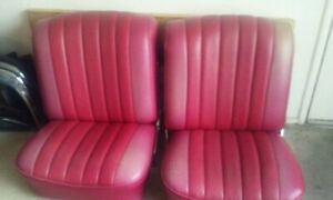 Hot Rod Vintage Classic Front Bucket Seats 1957 1973 Light Discolor On Top