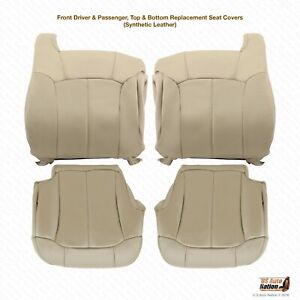 2000 2001 2002 Chevy Tahoe Suburban Front Upholstery Vinyl Seat Cover Shale Tan