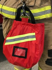 Scba Mask Bag Deluxe Red Firefighter Isi Emt Fire respirator