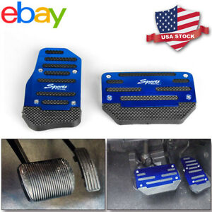Universal Non Slip Automatic Car Gas Brake Foot Pedal Pad Cover Accelerator Blue