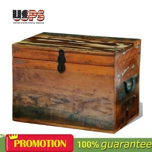Vidaxl Solid Wood Storage Box Reclaimed Material Vintage Style Home Furniture