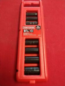 New Craftsman 9pc 6pt Metric Deep Impact Socket Set 3 8 Dr Cmmt15883