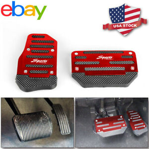 Universal Non Slip Automatic Car Gas Brake Foot Pedal Pad Cover Accelerator Red