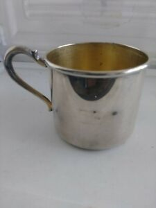Vintage Wallace Baby Cup 8436 Silver Plate Antique Engraved
