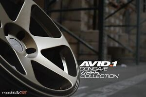 Avid1 Av38 18x8 5 35 18x9 5 38 5x114 3 Matte Bronze Staggered Set Of 4