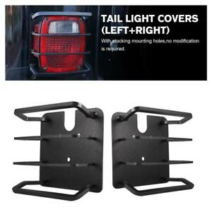 2x Rear Tail Light Lamp Guards Covers Protect For Jeep Wrangler Tj Yj 1987 2006