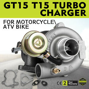 T15 Gt15 A R 42 Turbo Charger Turbocharger W Wastegate 13 Psi For Small Engine